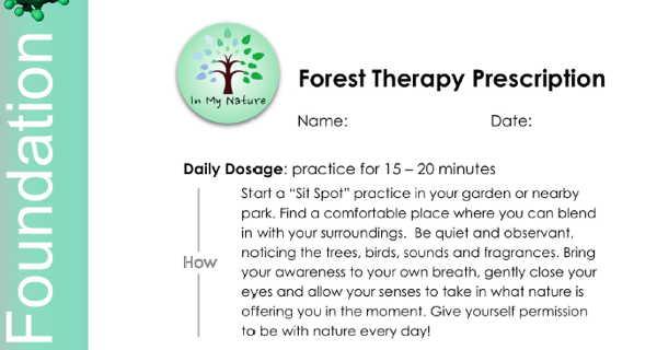 Forest Therapy Foundation prescription