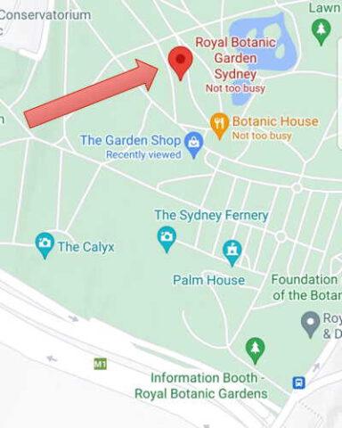 map RBG Sydney